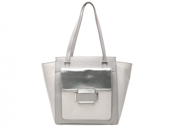 Out Of Pocket White Shoulder Bags & Totes