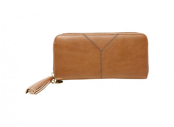 Tasseled And Tied Slgs Brown Wallet