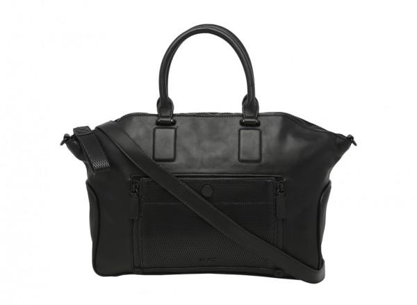 Zip Files Black Satchels & Handheld Bags