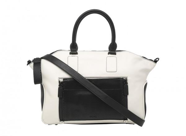 Zip Files White Satchels & Handheld Bags