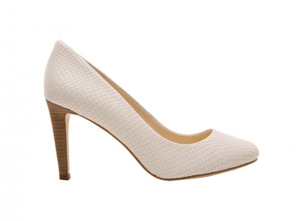 Nwhandjive White High Heel