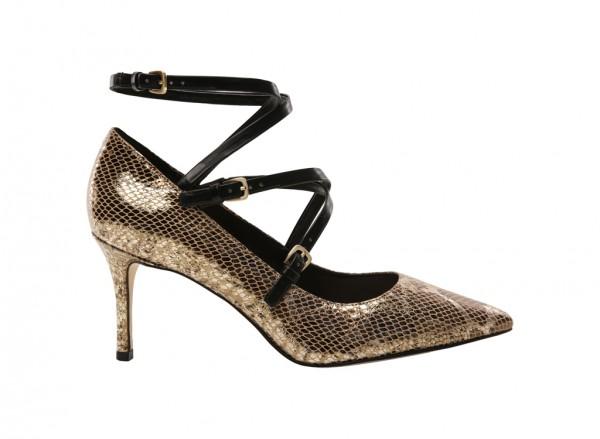 Mykela Gold Mid Heel
