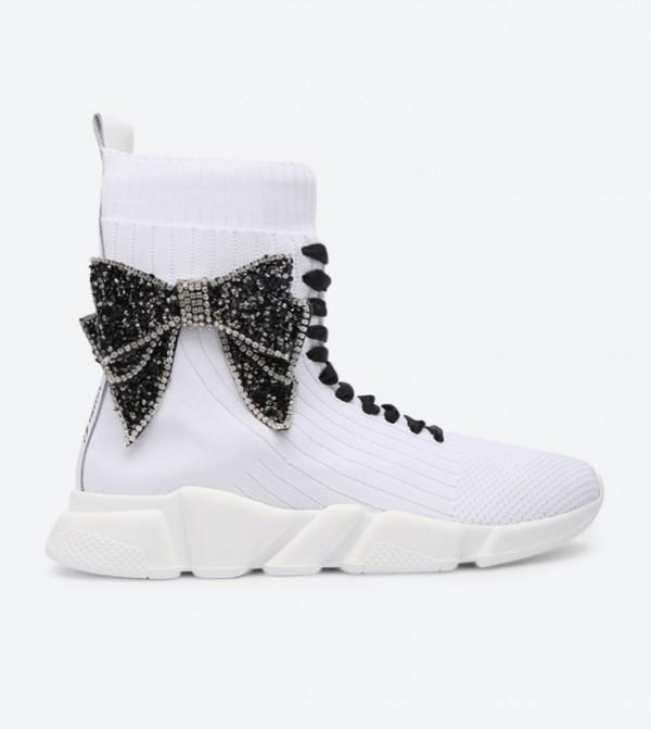 ef38ac65ad Vintage Designed Piuma Fiocco Sneakers - White