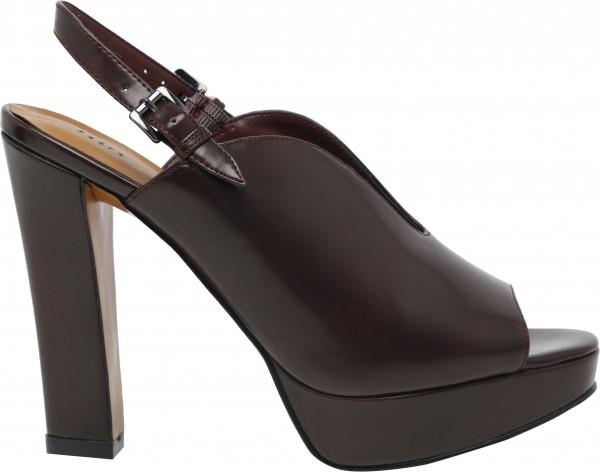 حذاء عالي الكعب أحمر داكن
