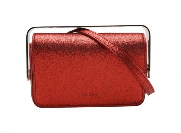 حقيبة كلتش بلون أحمر