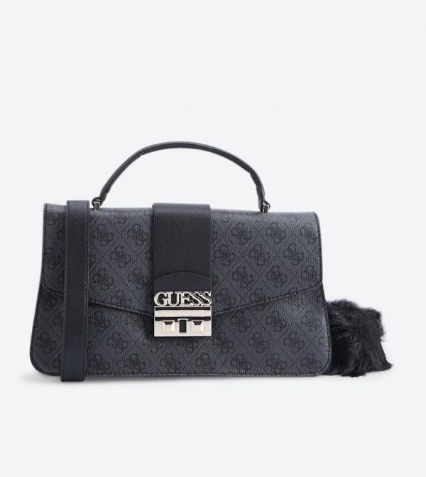 Home  Logo Luxe Top Handle Cross Body Bag - Black SG710218. SG710218-COAL 59e2ce494f
