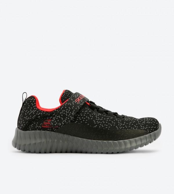 Elite Closure Over Flex Sneakers Up Black Sk97890l Surge