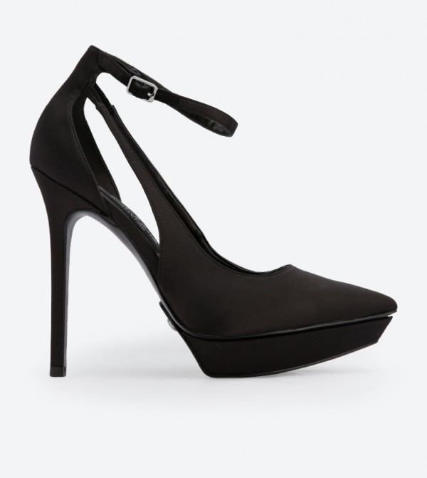 58c5eb2250c7 Charles   Keith Ankle Strap Platform Heels - Black SL1-60280299