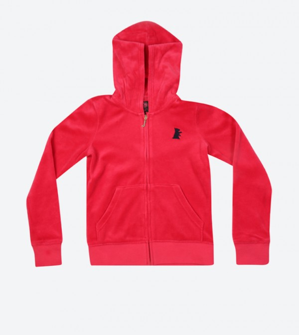 03ff16a4e738 Girls Velour Robertson Jacket - Red