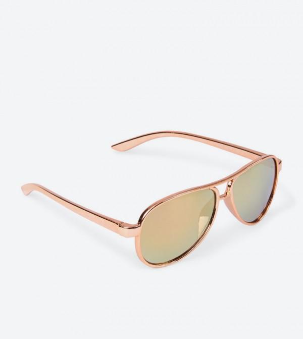 716d90224 ذا تشيلدرنز بليس نظارات شمسية بلون ذهبي وردي