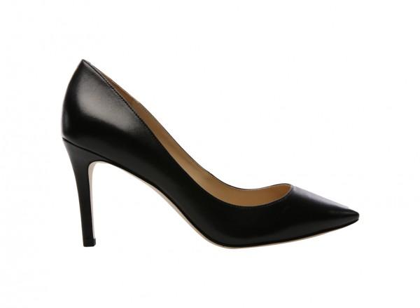 V-Carola Black Mid Heel