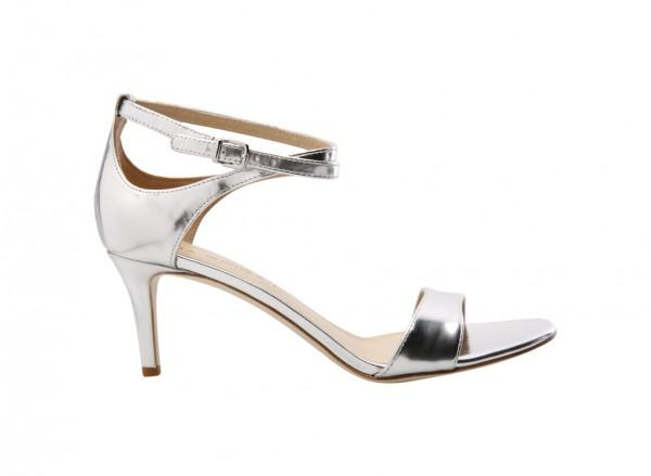 V-Leesa Silver Mid Heel