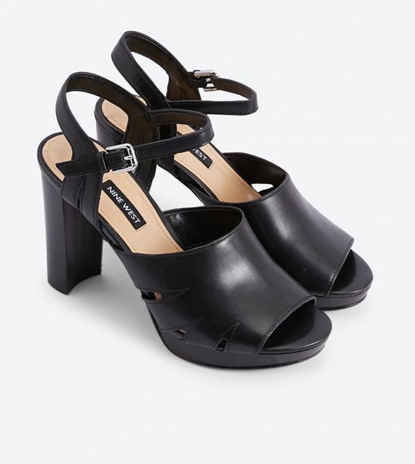 9d7a1497873b Delilah Ankle Strap Block Heel Sandals - Black