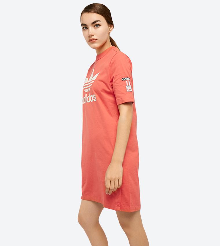 f17bd7340cc5 Adibreak Tee Mini Dress - Light Red DH4667