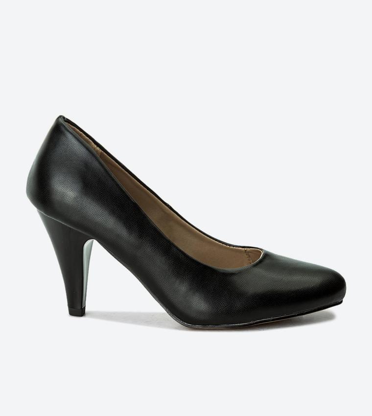 7bd14a2a6 High Heel Almond Toe Pumps - Black